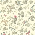 100/2009.CS Winter Birds Linen by Cole & Son