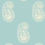 5005060 Indore Paisley Turquoise by FSchumacher