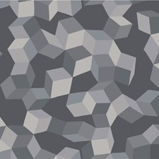 Grey and Black Print Wallcovering by Cole & Son